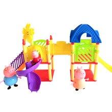 Les enfants font semblant de jouets château gonflable en PVC de haute qualité peppa pig jouets jouets pour filles cadeau de noël pour enfants