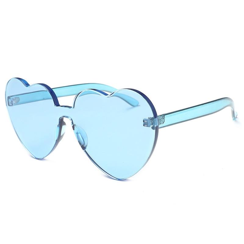 Nuevas gafas de sol de alta calidad con forma de corazón para mujer, gafas de sol con forma de corazón de melocotón, gafas de moda para chica, regalo para el Día de San Valentín