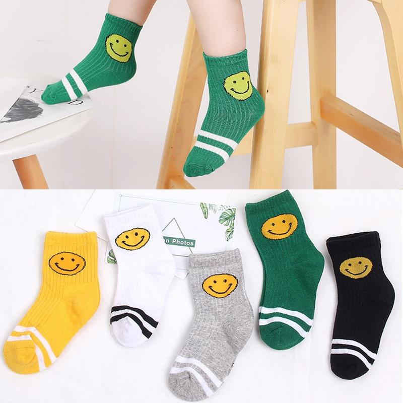 5 Pairs/lot Kids Boys Girls Socks 2019 New Baby Summer Thin Cotton Short Socks Sets 1-12 Years Children Comfortable Socks Lot