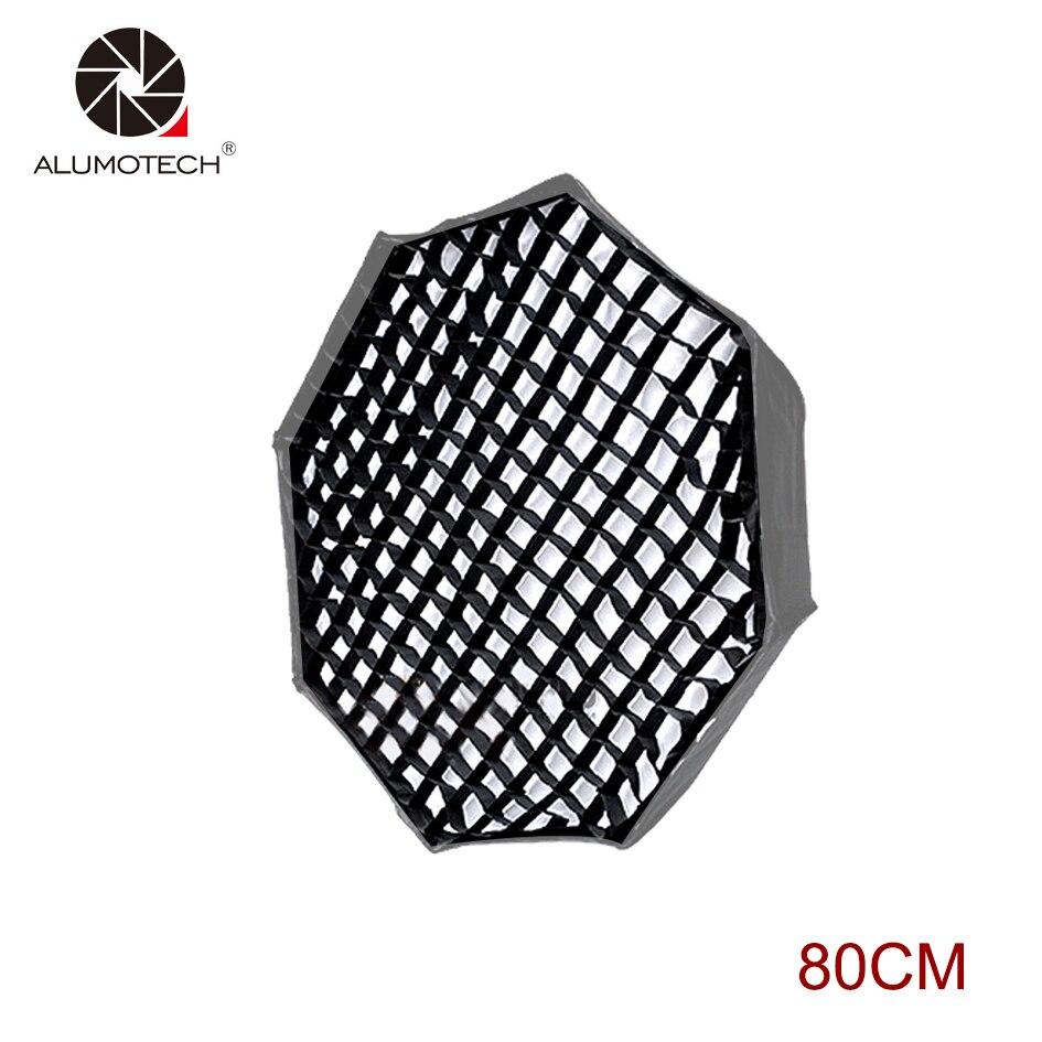 """Caja suave Octagonal ALUMOTECH panal rejilla 80CM 31,5 """"para accesorios de estudio luz Flash"""