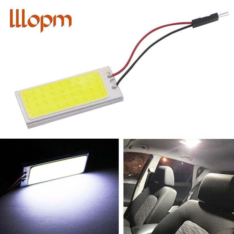 Voiture led Super lumineux blanc 8W COB 36 puce LED voiture lumière intérieure 12V voiture LED panneau lumineux voiture intérieur lumières Parking antibrouillard