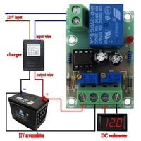 xh m601 12v battery charging control board intelligent charger power control panel automatic charging power control switch board