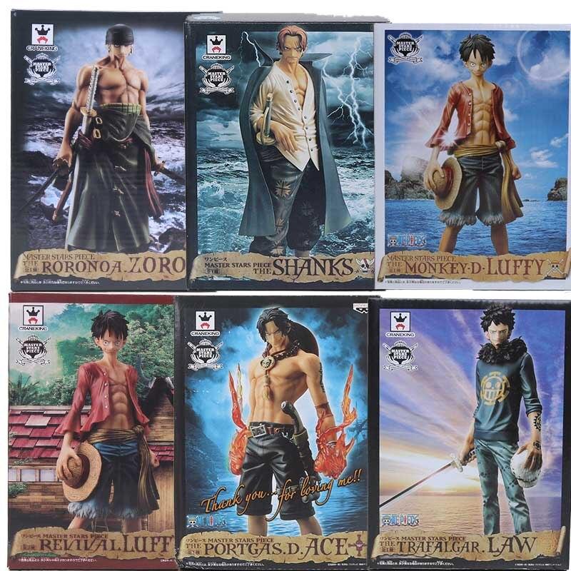 One Piece Master Stars Monkey D Luffy, Trafalgar law ACE Roronoa Zoro shanks, 2 años más tarde, juguetes figura de pvc en miniatura, muñecos, Juguetes