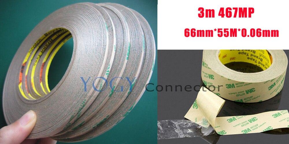 1x 66mm 3M 467MP 200MP 2 Sides Clear Sticky Tape for PCB Rubber Bond Sticky
