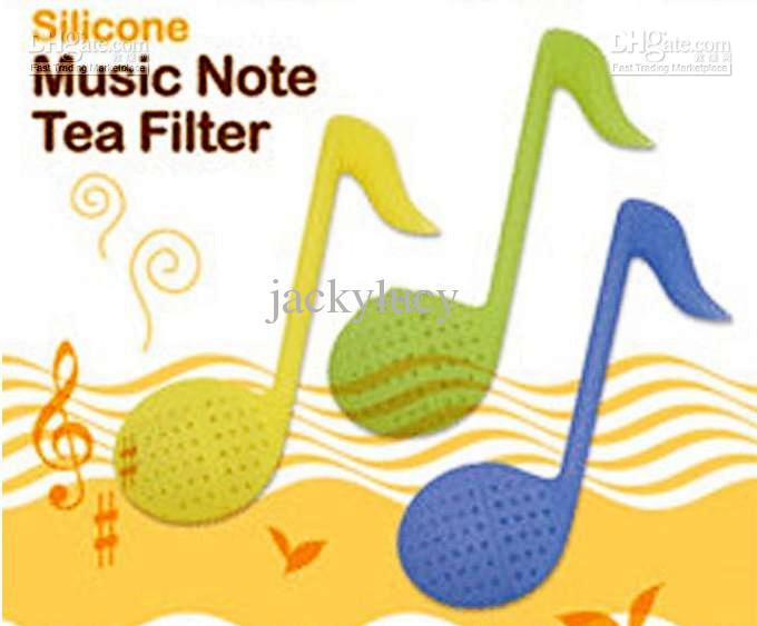 Novedad nota musical té filtro Teaspoon a la moda Rosa Teaspoon, filtro, infusor té tensión envío gratis