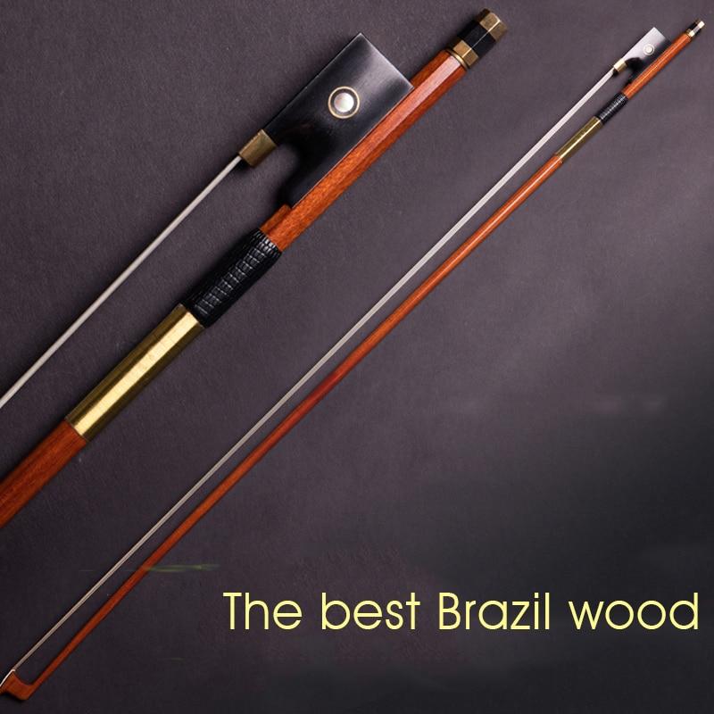 Profissional nível considerando Sappanwood arco de violino 4/4 3/4 1/2 1/4 szie Ébano Acessórios Boutique Arco