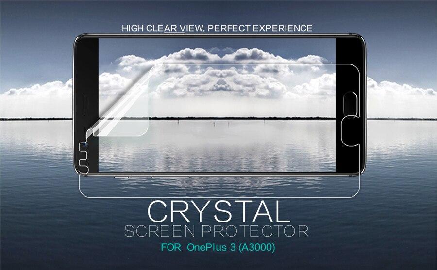 NILLKIN – Film de protection Anti-empreinte digitale pour OnePlus 3T A3000, 2 pièces/lot, Super clair, ou mat