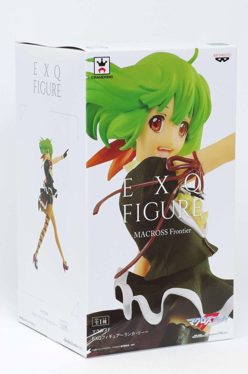 """Banpresto-figura coleccionable EXQ, 100% Original, Ranka Lee de """"MACROSS Frontier"""""""
