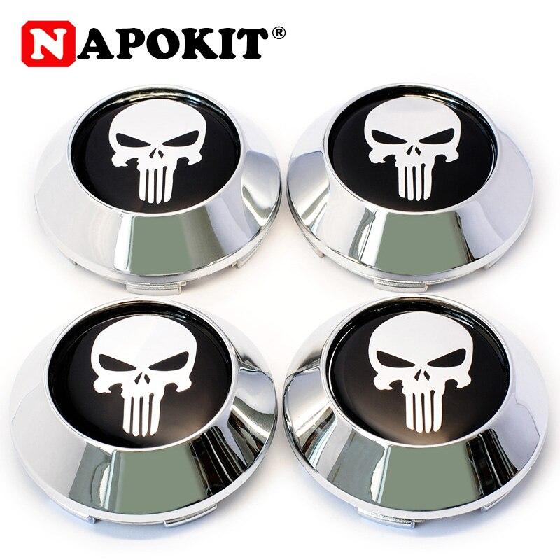 4pcs Universal 68MM(62mm-64mm-9mm) Fashion Skull Logo Car Auto Replacement Part Car Wheel Tires Hub Caps Rim Hubcaps