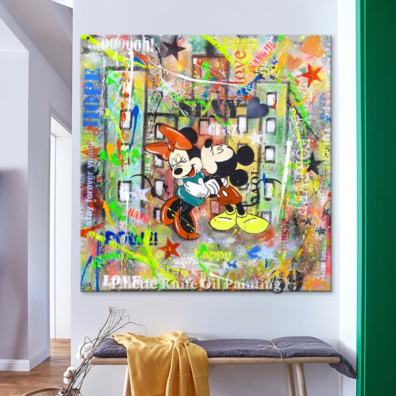 декор для дома Постер и принт Alec граффити поп-арт, живопись уличное искусство городское искусство на холсте настенные картины для гостиной ...
