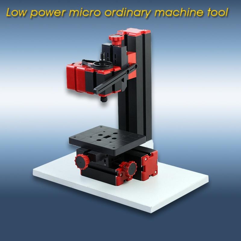 Baixo-potência micro máquina de perfuração comum máquina ferramenta combinada processamento de madeira compensada engenharia de metal macio