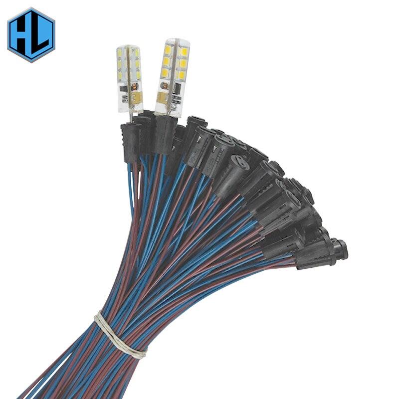 10 pçs/lote 50cm comprimento do fio g4 led suporte da lâmpada baquelite preto plugue da lâmpada com tomada de cabo g4 base lâmpada pé soquete