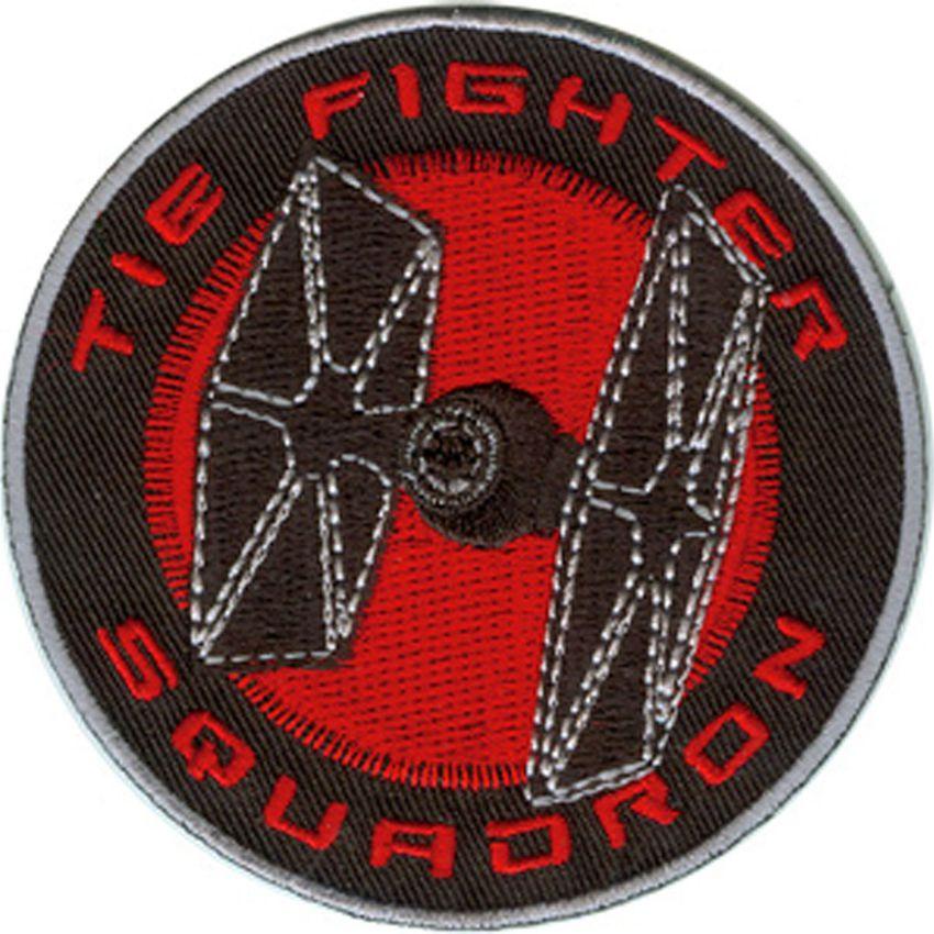 1 pçs nova chegada clone tie fighter filme tv bordado novo ferro e costurar em legal motociclista colete parches remendo emblema militar