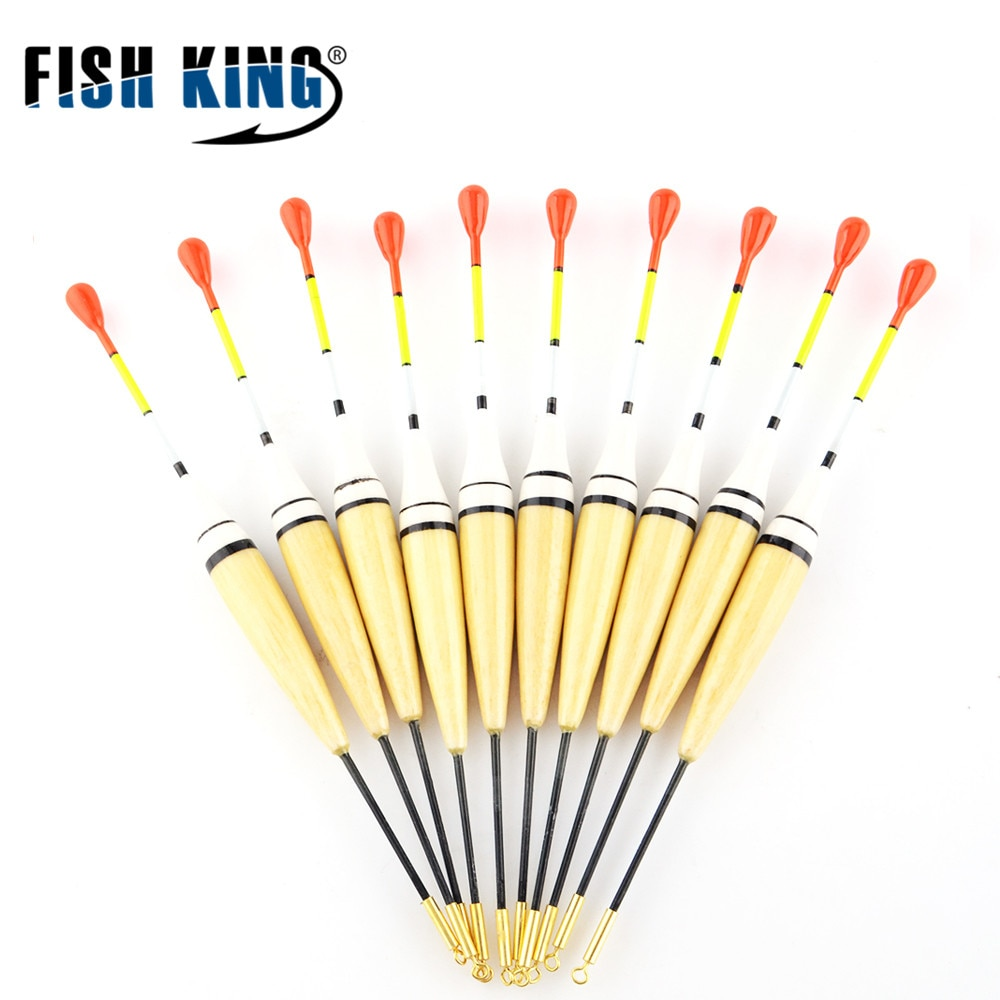 FISH KING Brand 10pcs/Lot 2g 14.5cm Fishing Float Bobber Floats Buoys Flotteur Peche For Carp Fishing Tackle Pesca Acesorios