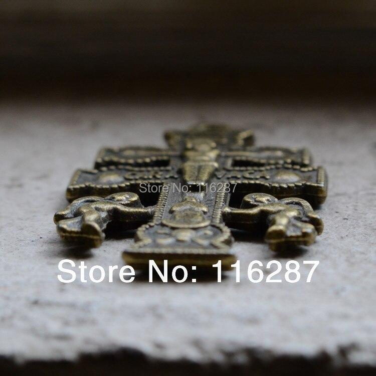 Presentes religiosos católicos crucifixo sagrado medalha st pingente encantos anjo bronze jóias rosário cruzes cruz de caravaca cruz retro