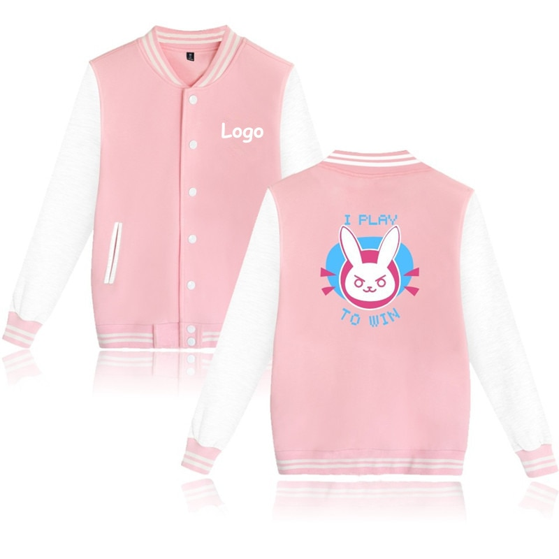 Nuevo Overwatches uniforme de béisbol OW DV. Una chaqueta de manga larga Sudadera con capucha de alta calidad Dva Cosplay Halloween disfraz pareja