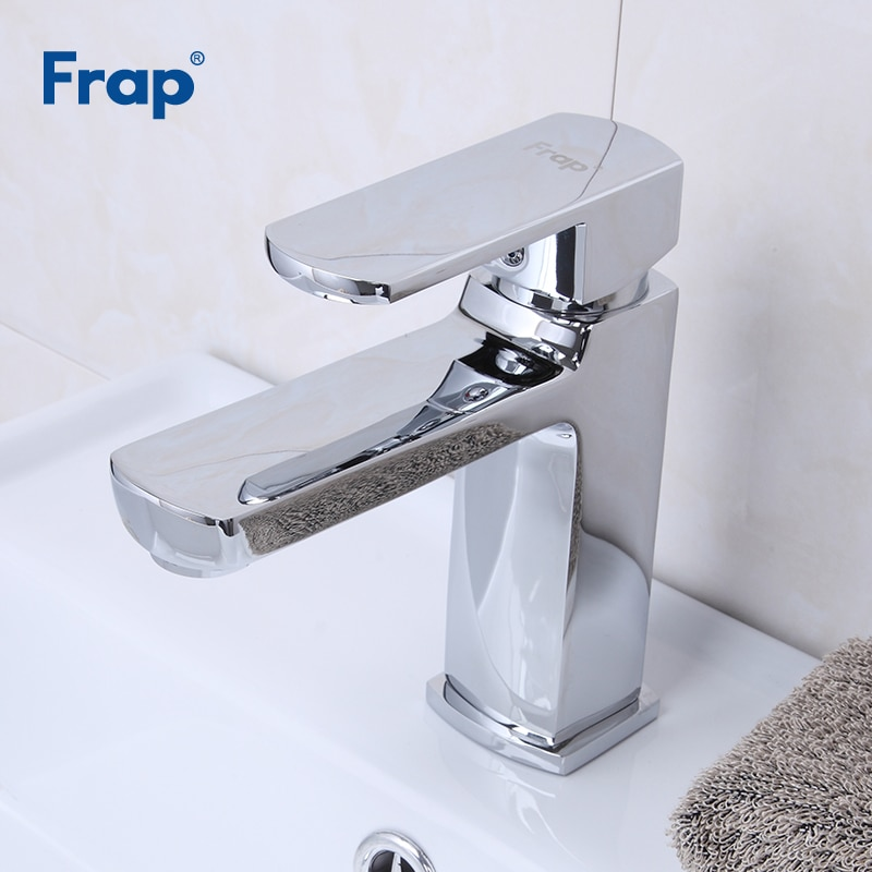 Frap حوض الحنفيات سطح الخيالة الحمام صنبور المياه الباردة والساخنة حوض صنبور حوض خلاط الكروم النحاس المرحاض بالوعة المياه رافعة F1073