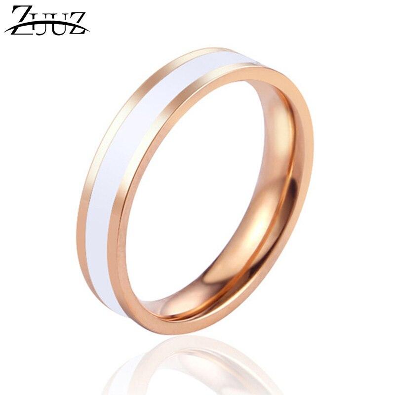 ZUUZ joyería kpop accesorios anillos de acero inoxidable para Mujeres Hombres dedo femenino amor compromiso humor oro rosa anillo