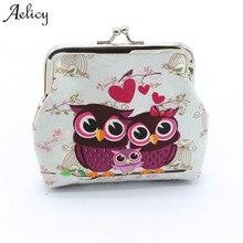 Aelicy yüksek kaliteli tasarım kadın güzel baykuş bozuk para cüzdanı Vintage tarzı bayan küçük cüzdan çile çantalar kız para değişimi el çantası