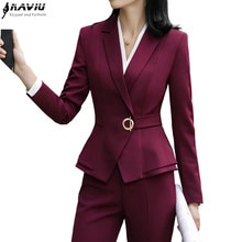 Hoge Kwaliteit Winter Pak Voor Vrouwen Twee Stukken Set Formele Lange Mouwen Slim Blazer En Broek Office Dames Plus Size werkkleding