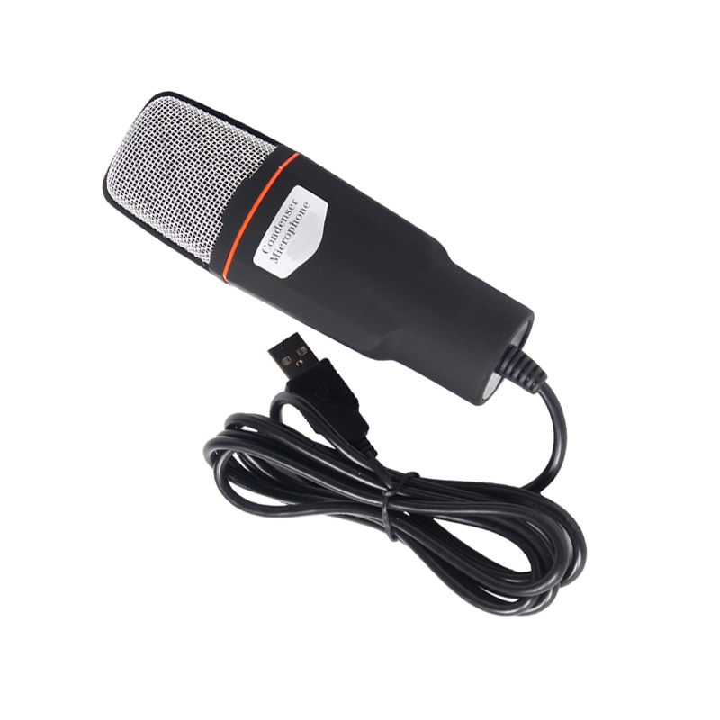 Micrófono de condensador USB para computadora con soporte r teléfono micrófonos sonido...