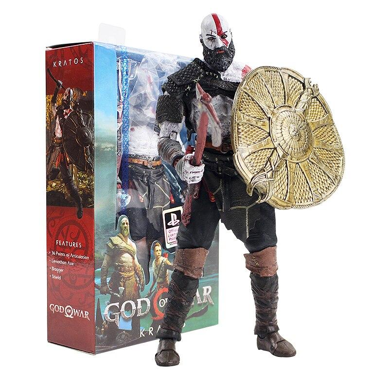 PS4 del Dios de la guerra, 4 Kratos figura de PVC Kratos figura de acción NECA juguete de modelos coleccionables