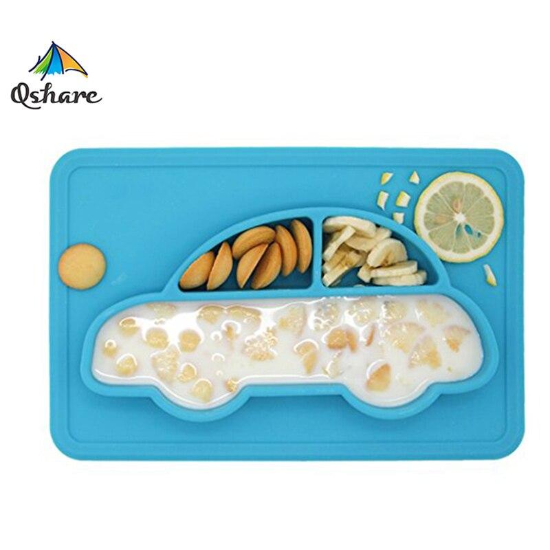 Platos para bebés Qshare, cuencos para bebés, platos para niñas, vajilla, contenedor de comida para niños, vajilla antideslizante para bebés