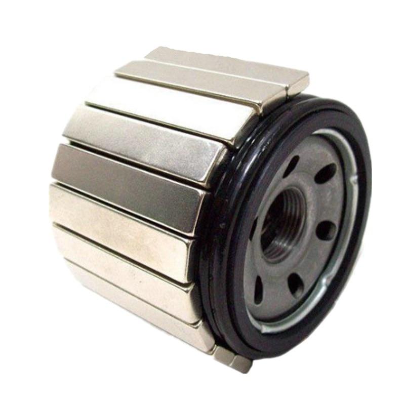 12 قطعة تصفية المغناطيس ندفيب كتلة 60x10x5 مللي متر النيوديميوم مغناطيس يمكن مكافحة الصدأ للسيارات النفط و أنابيب المياه الترشيح