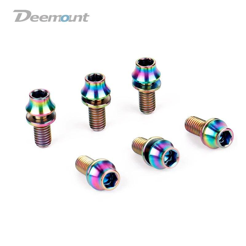 Болты Deemount 4 шт./лот TC4 из титана M5x12 мм с шестигранной головкой, мойка для велосипедной бутылки, клетка для установки MTB Ti, детали винтов