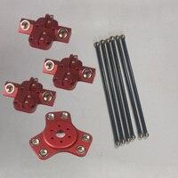Kossel XL magnetic effector+carriage+ 240mmcarbon tube Diagonal push rods kit for DIY Delta kossel 3d printer