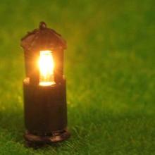 2Pcs Model Light Dollhouse Garden Lawn Lamp Lighting DIY Sand Table Landscape Doll House Decoration