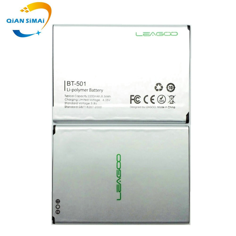 Batería QiAN SiMAi 1 Uds nueva 100% de alta calidad BT-501 BT501 BT 501 para teléfono móvil LEAGOO Alfa 5 + código de seguimiento
