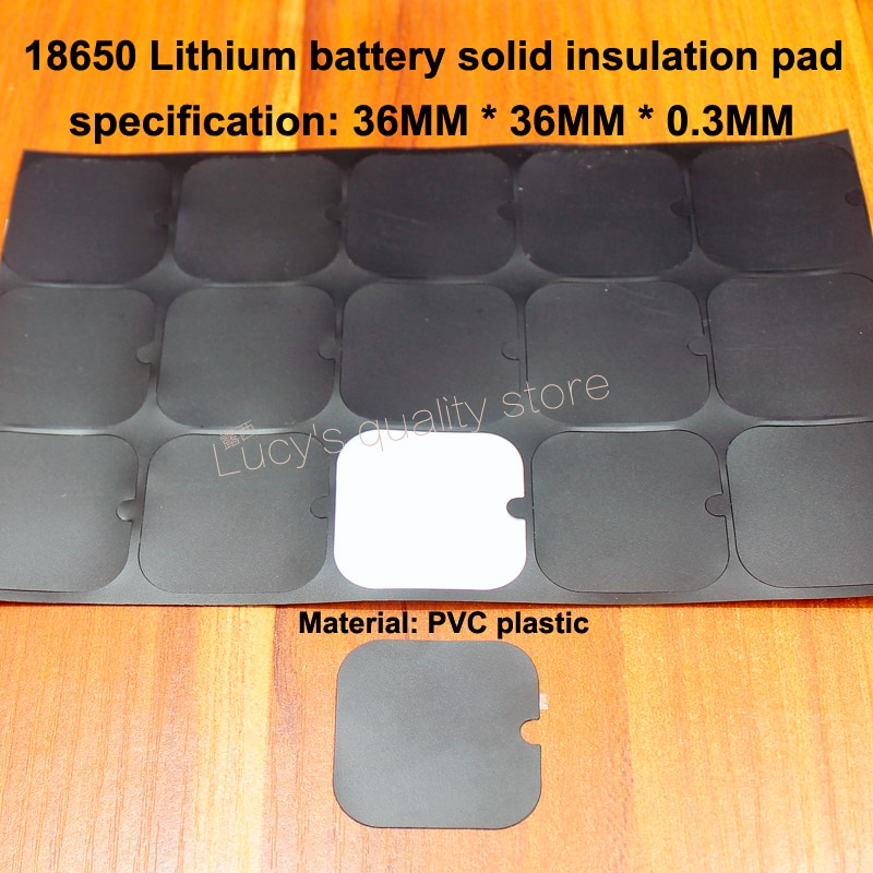100pcs/lot 18650 lithium battery high temperature insulation pad 2S insulating universal surface