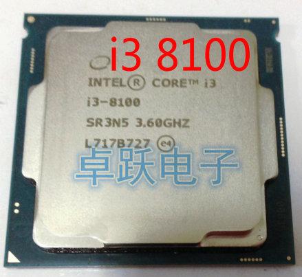 Intel Core i3 8serie Prozessor I3 8100 I3-8100 CPU LGA 1151-land FC-LGA 14 nanometern Quad-Core freies verschiffen
