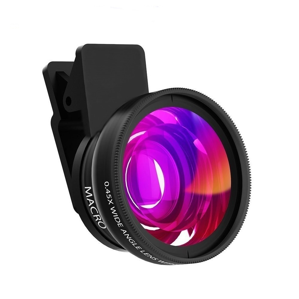 Tongdaytech Mobile Phone Lens 0.45x Super Wide Angle 12.5x Super Macro HD Camera Lens For iPhone 8 7