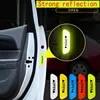 Ceinture réfléchissante autocollant pour ouverture de voiture étiquette d'avertissement accessoires de bicyclette pour porte extérieure bricolage 4 pièces/ensemble
