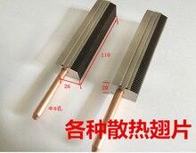 Aileron en aluminium de 110*26*20mm/aileron en aluminium de Dissipation thermique/tuyau en aluminium de radiateur de grille de dissipation thermique
