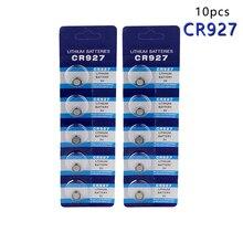 Centechia nouveauté 10 pièces au Lithium 3V piles bouton batterie CR927 DL927 BR927 ECR927 5011LC 927