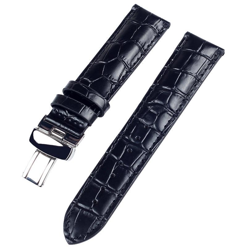Купить с кэшбэком High Quality Genuine Calf Hide Leather Watch Band For Tissot Watch Strap 1853 T17 T035 T41 Watch Bracelets