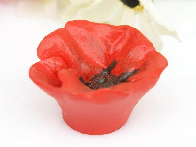 مقبض ومقابض لخزانة المطبخ على شكل زهرة حمراء ، للأطفال ، على طراز حديقة كرتونية