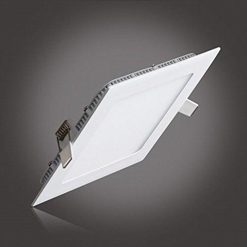 Regulable, 3W, 9W, 12W, 15W, 25W, Panel de luz LED blanco cálido/blanco frío, bombilla de luz LED de techo suspendida cuadrada, AC85-265V gratis
