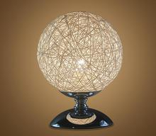 New Arrival Hand Knitted Table Lamp LED Light Source Sunshine Ball Table Lighting for Bedroom