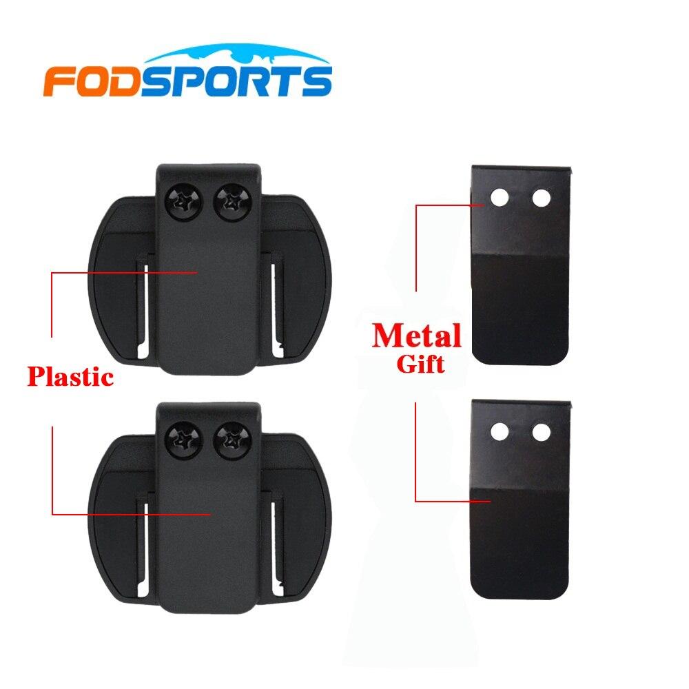 2 STÜCKE V6 Clip Metall Halterung Geeignet für V6 V4 Motorrad BT bluetooth Sprech headset helm intercom