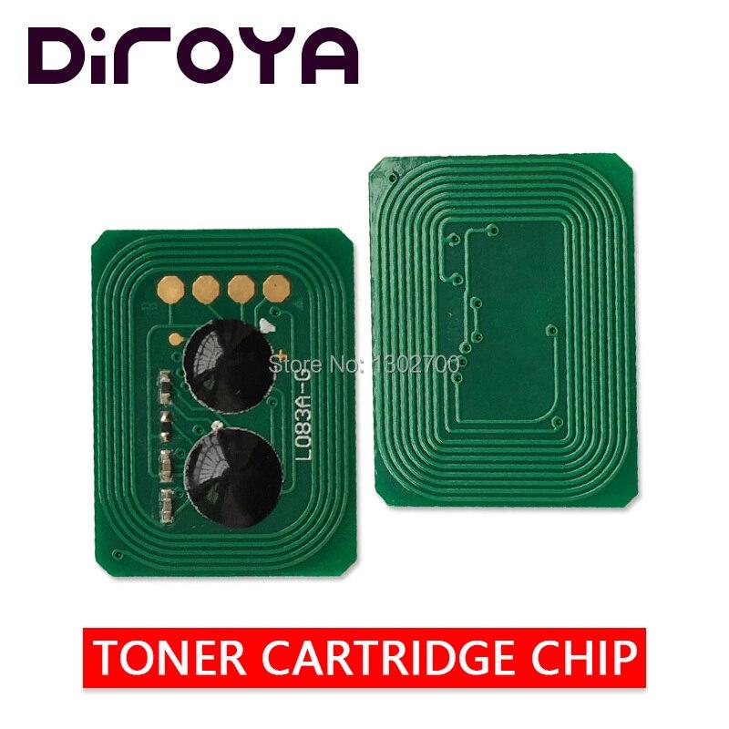 40 шт 43837124 43837123 43837122 43837121 тонер-картридж чип для Intec cp2020 2020 cp-2020 заправка порошком цветного принтера сброс
