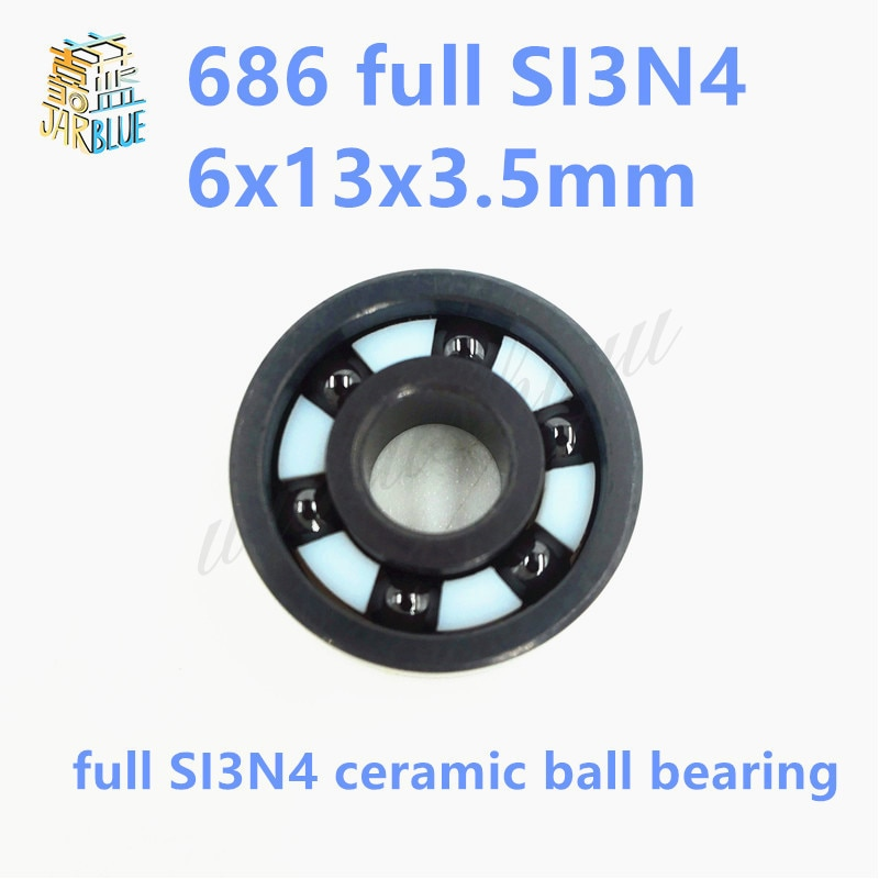 Frete grátis 686 completa SI3N4 rolamento de esferas profundo do sulco de cerâmica 6x13x3.5 milímetros para a parte da bicicleta
