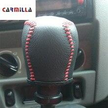 Carmilla couvercle de Protection des boutons de vitesse   Cuir, pour la tête de vitesse de voiture MT, étui adapté à Renault Kangoo 2004, accessoires