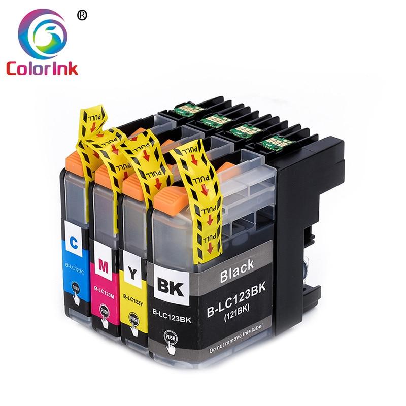 ColorInk 4Pack LC123 cartucho de tinta para Hermano MFC-J4510DW MFC-J4610DW MFC-J4410DW J4710DW impresora