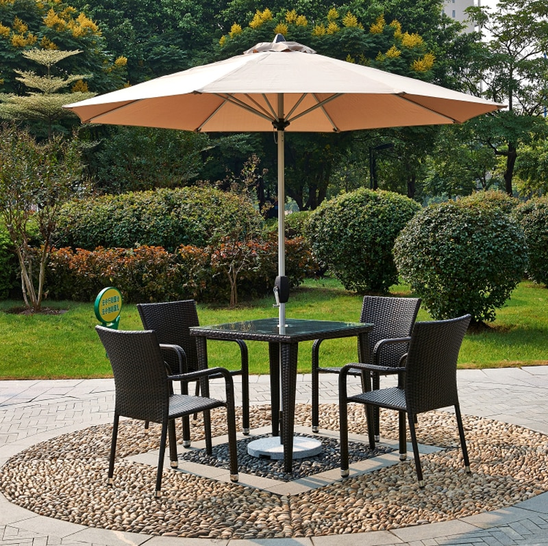 courtyard garden chairs leisure outdoor sun umbrellas patio furniture balcony chairs and tables for amusement playground park