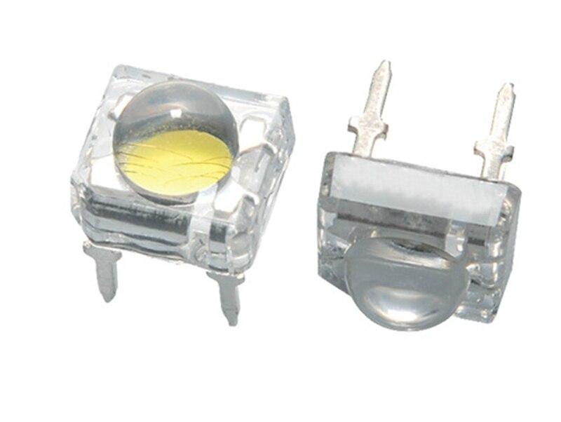 10PCS 5MM Piranha Red LED,80mA 4-chip, 5MM Eagle-eye SMD Superflux LED, High Brightness,5mm Brightness White Round Head Diode