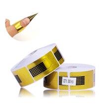 500Pcs/Roll  Professional Nail Forms Acrylic Curve Nails Gel Nail Extension Nail Art Guide Form Design DIY Tools